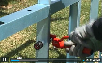 Making holes using a manual hydraulic punch