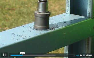 Making holes using a Tungsten Carbide hole cutter