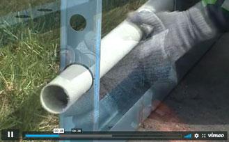 Making penetration holes using a manual hydraulic punch