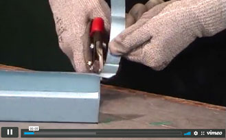 Trimming or cutting C-stud profiles